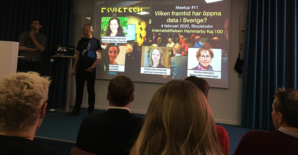Civic Tech Swedens seminarium om öppna data
