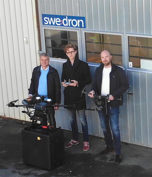 swedron-teamet med drönare
