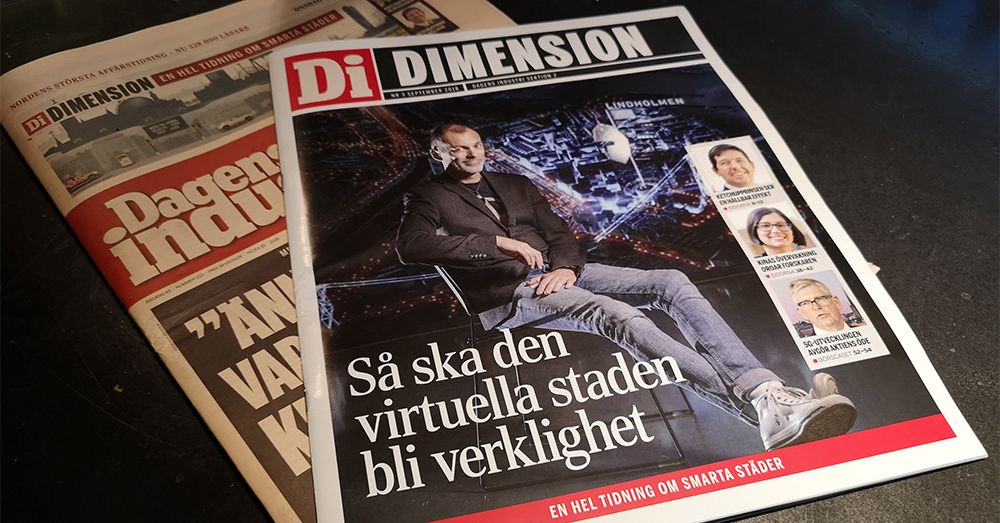 Virtuell stad i Dagens industri