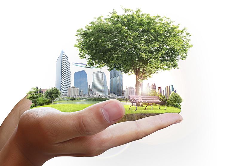 arbeta smart 2017 hand grön stad
