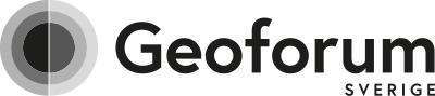 Geoforum Sverige svartvit logotyp