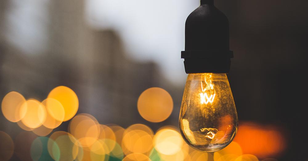 innovation glodlampa gult ljus byggnader