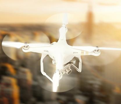 dronare over stad